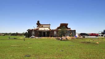 Beschädigtes Haus in El Reno, Oklahoma