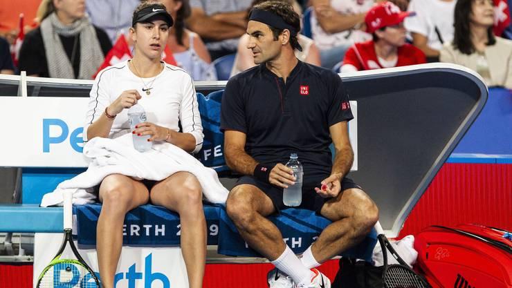 Wichtiger Ratgeber für Belinda Bencic: Roger Federer
