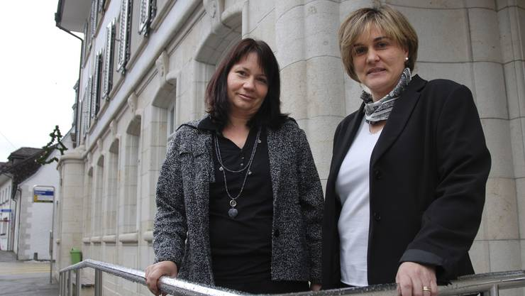 M. Isabel Zimmermann, Geschäftsführerin (r.), und Renate Allemann-Müller, Vizepräsidentin des Vereins.