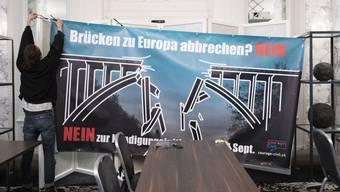 Ist seit Sonntag vom zwar vom Tisch: Die Begrenzungsinitiative der SVP. Um das künftige Verhältnis der Schweiz zur EU wird nun wieder gestritten.