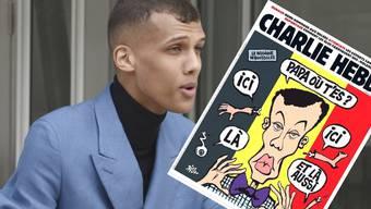 Der belgische Sänger Stromae ziert die neuste Ausgabe von Charlie Hebdo