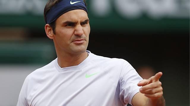 Roger Federer gab gegen den Spanier Carreño Busta den Tarif durch.