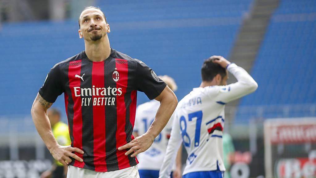 Zlatan Ibrahimovic will nicht glauben, dass Milan mit Sampdoria nicht zurechtkommt.