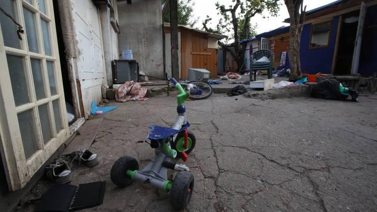In diesem Roma-Lager soll der 16-jährige Darius gewohnt haben.