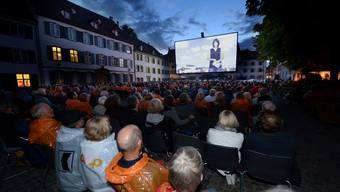 Der Auftakt des Orangecinemas auf dem Münsterplatz