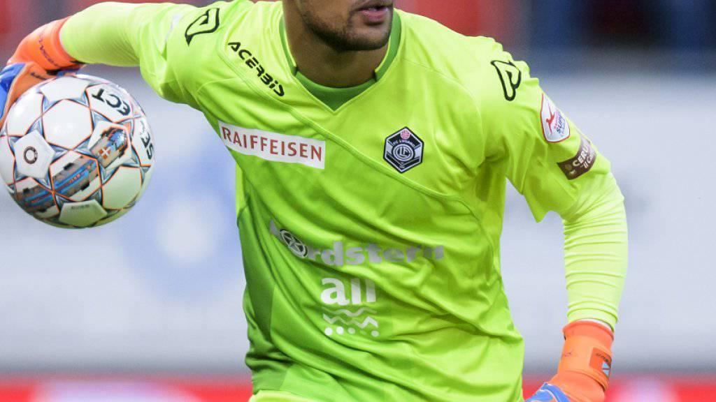 Wechselt nach nur einem Jahr in Lugano nach Genf zu Servette: Goalie Joël Kiassumbua