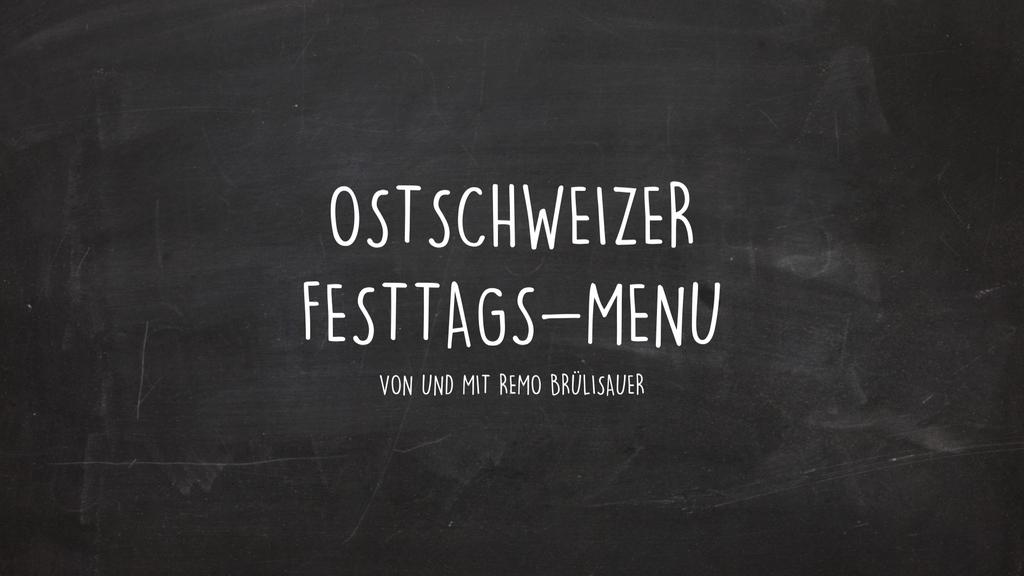Festtags-Menü