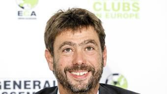 Andrea Agnelli informiert die Medien über die Europacup-Pläne der UEFA