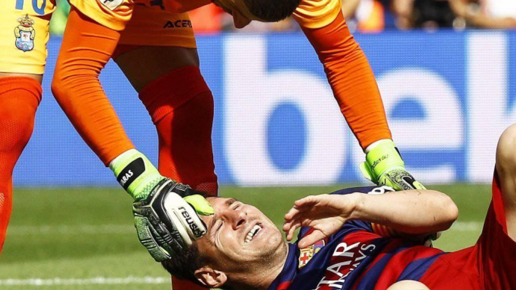 Lionel Messi verletzte sich am vergangenen Samstag im Ligaspiel gegen Las Palmas am Knie und muss rund zwei Monate pausieren