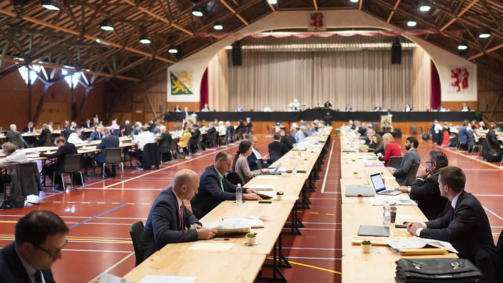 Der Grosse Rat tagt wegen der Pandemie weiterhin in der Festhalle Rüegerholz in Frauenfeld. (Archivbild)