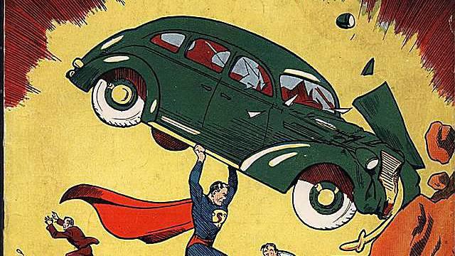 Titel des ersten Superman-Hefts