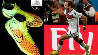 Die Weltmeister-Schuhe von Mario Götze.