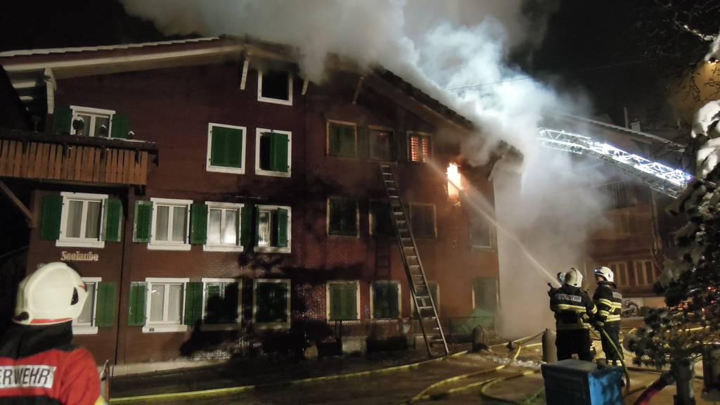 Brand eines Wohnhauses fordert ein Todesopfer