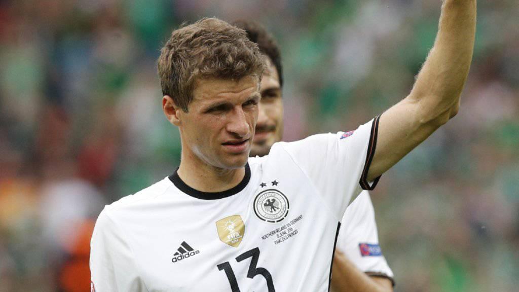 Thomas Müller vor seinem 75. Länderspiel