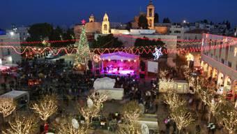 Vor der Geburtskirche in Bethlehem