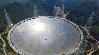 Das Observatorium mit einem Durchmesser von mehr als 500 Metern soll im Weltraum nach intelligentem Leben suchen. (Archiv)