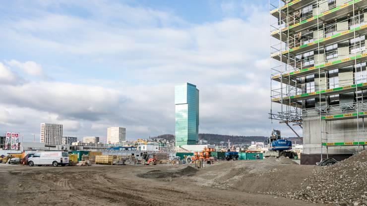 Baustelle des neuen Polizei- & Justizzentrums (PJZ) an der Hardbrücke in Zürich