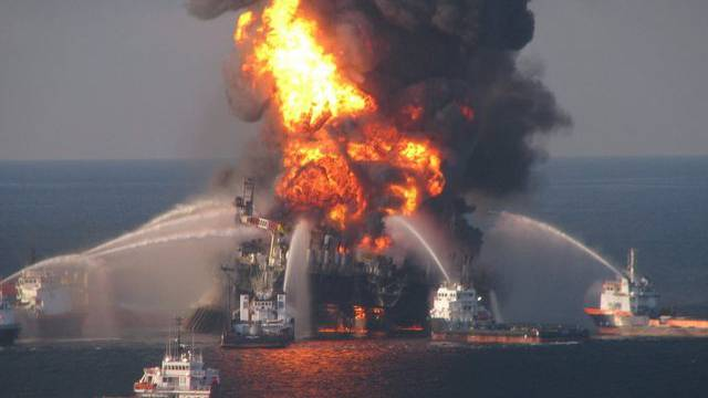 "Die Förderplattform ""Deepwater Horizon"" war im April 2010 explodiert (Archiv)"