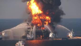 """Die Förderplattform """"Deepwater Horizon"""" war im April 2010 explodiert (Archiv)"""
