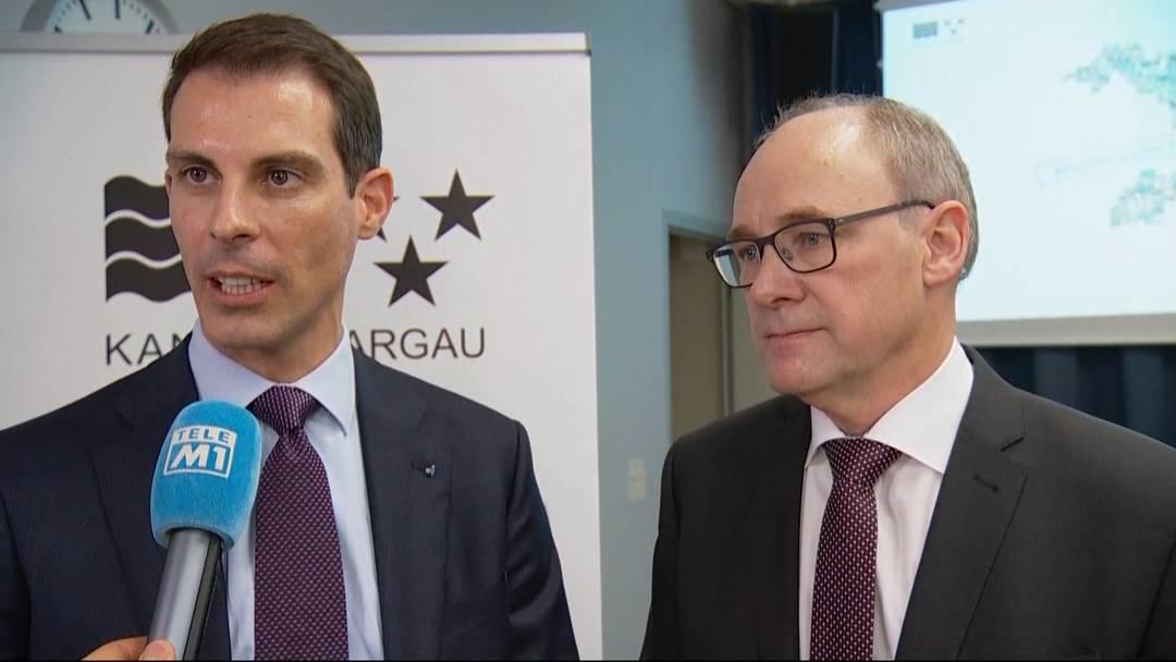 Thierry Burkart (FDP) und Hansjörg Knecht: «Ein grosser Vertrauensbeweis»