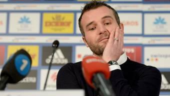 Alex Frei bei seiner letzten Medienkonferenz als FCL-Sportchef.