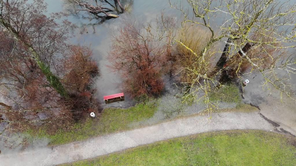 Hochwasser: Gefahrenstufe 3 am Greifensee