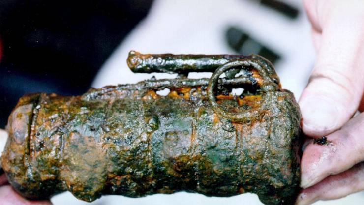 Polizei- und Armeetaucher fanden bei einer Suchaktion im Luzerner Rotsee im Juli 2000 mehrere hundert Defensivhandgranate des Typs Siegwart DHG 16. Diese stammen aus der Zeit des 1. Weltkrieges.