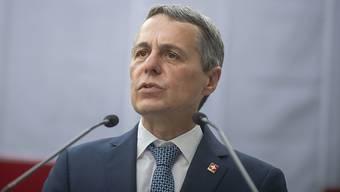 """""""Die Lage ist besorgniserregend"""": der Schweizer Aussenminister Ignazio Cassis. (Archivbild)"""