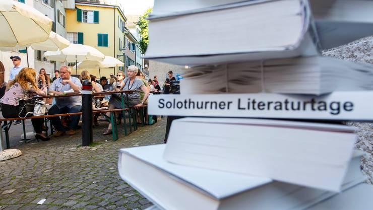 Dieses Jahr werden bei den Solothurner Literaturtagen nicht wie jedes Jahre Festbänke vor dem Landhaus aufgestellt.