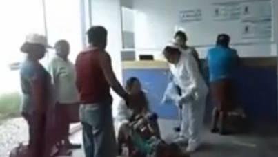 Frau muss ihr Kind in der Spital-Lobby gebären