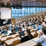 In den grossen Hörsälen treffen viele Studierende aufeinander - wie hier an der Hochschule St. Gallen (Symbolbild).