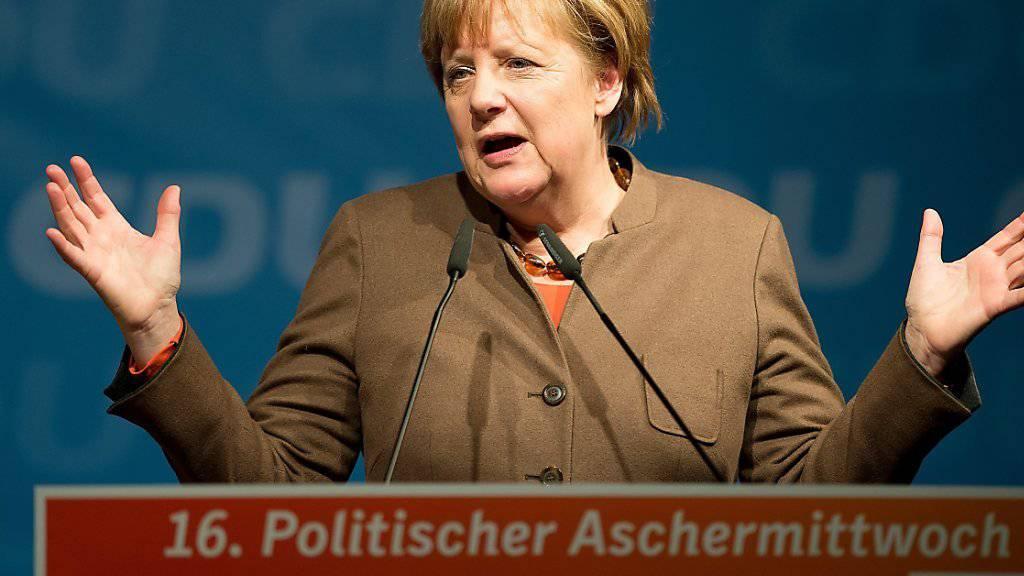 Ihre Beliebtheit steigt: Die deutsche Kanzlerin Angela Merkel. (Archivbild)