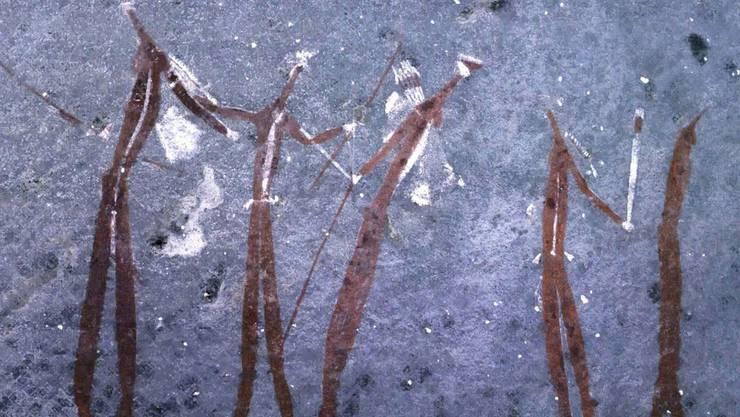 Undatierte Höhlenmalerei in Südafrika: 95 Prozent der Menschheitsgeschichte war der Homo Sapiens Jäger.