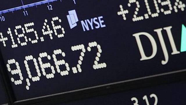 Dow-Jones-Index über 9000 Punkten