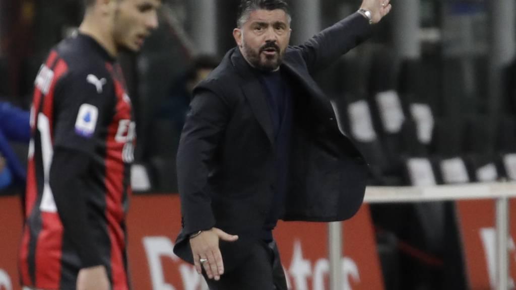 Der ehemalige FC-Sion-Coache Gennaro Gattuso, hier Mitte März noch als Trainer von Napoli, verlässt den Serie-A-Klub Fiorentina nach drei Wochen bereits wieder