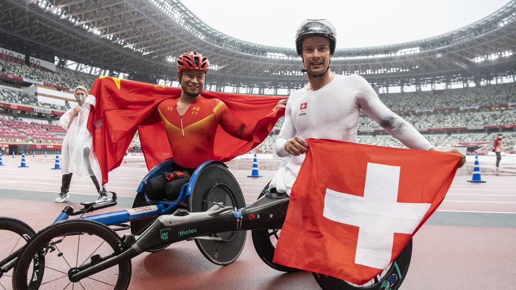 Erfolgreiche Schweiz an den Paralympics: Marcel Hug holt Gold, der Chinese Yong Zhang Silber.