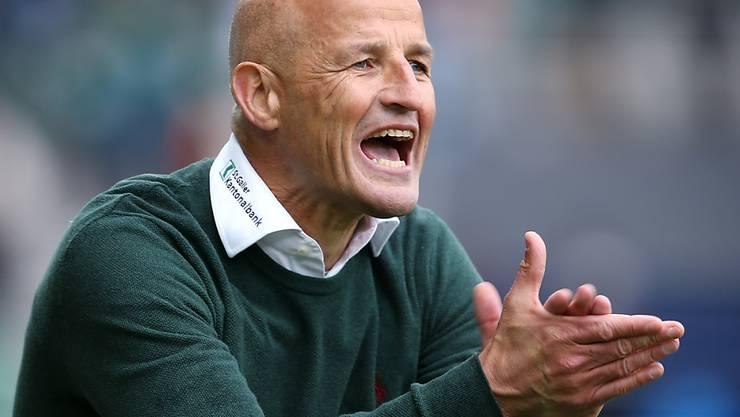 Wird sich St. Gallens Trainer Peter Zeidler bald nicht mehr ärgern müssen?