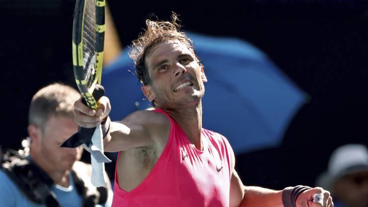 Rafael Nadal feierte in Melbourne einen weiteren problemlosen Sieg