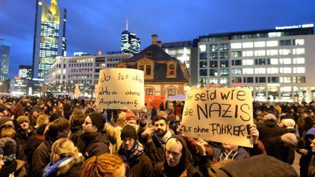 Anti-Pegida-Demonstration in Frankfurt am Main
