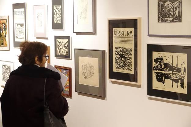Einige der raren expressionistischen Werke, die zwischen 1910 und 1932 in der Kulturzeitschrift 'Der Sturm' erschienen.