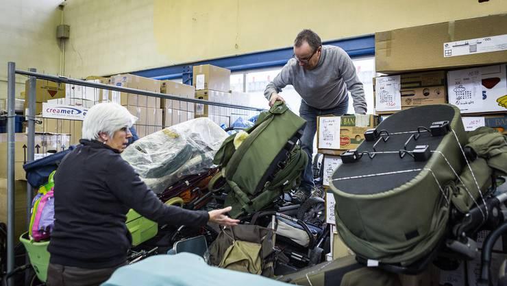 70 Tonnen Hilfsmaterial hat der Verein «Volunteers for Humanity» in den vergangenen sechs Wochen gesammelt.