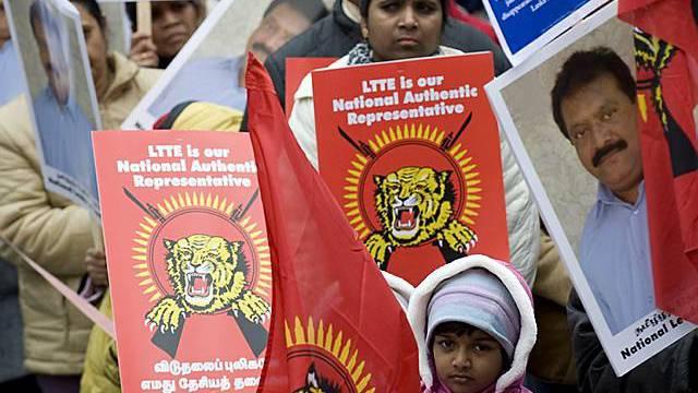 Protest gegen Krieg in Sri Lanka