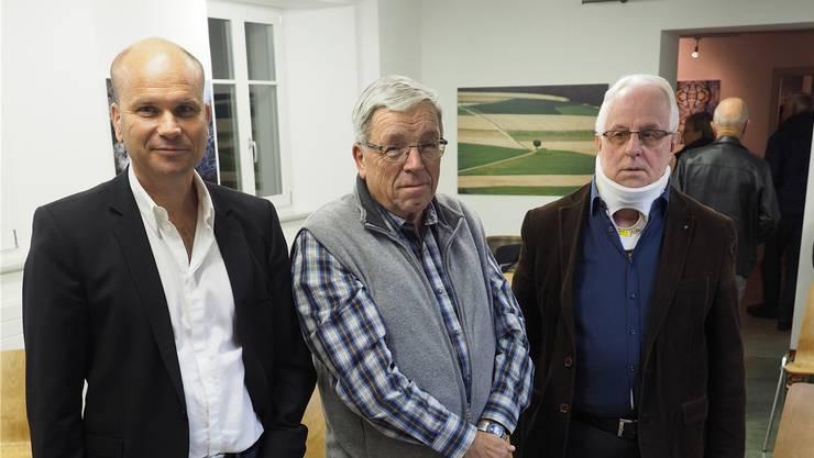 Rok Dolanc, Peter Bircher und Kurt Jakober (v.l.) diskutierten über Spitäler. hcw