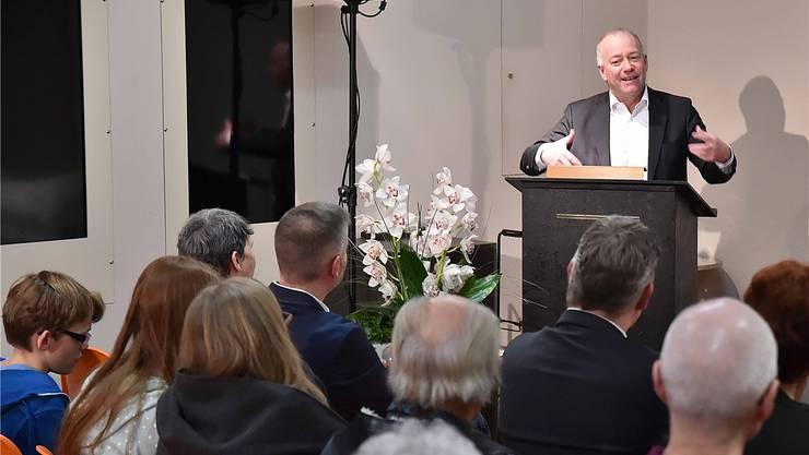 Stadtpräsident Martin Wey zeigte sich überzeugt, dass die Oltner Museen nicht nur Mittel, sondern auch Menschen brauchen, die sich mit Herzblut engagieren.