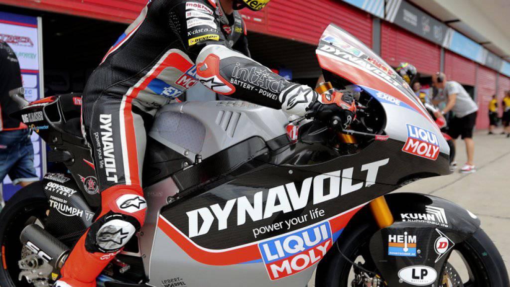 Tom Lüthi nimmt den Trainingstag in Jerez in Angriff
