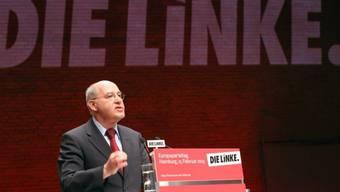 Gregor Gysi, der Fraktionschef der Linken, auf dem Parteitag
