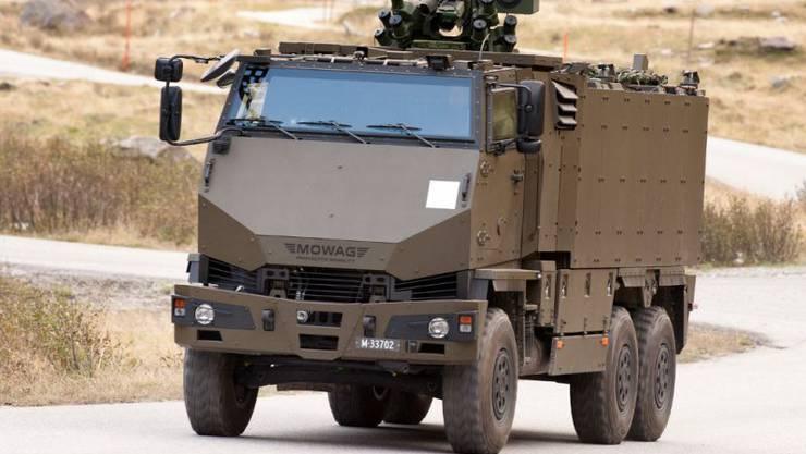 Solche gepanzerten Duros (ohne Geschütz) kommen künftig bei der Kantonspolizei Zürich zum Einsatz. (Themenbild)