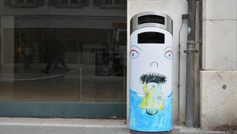 Abfallkübel in Olten: Aktion «Kunst am Kübel»
