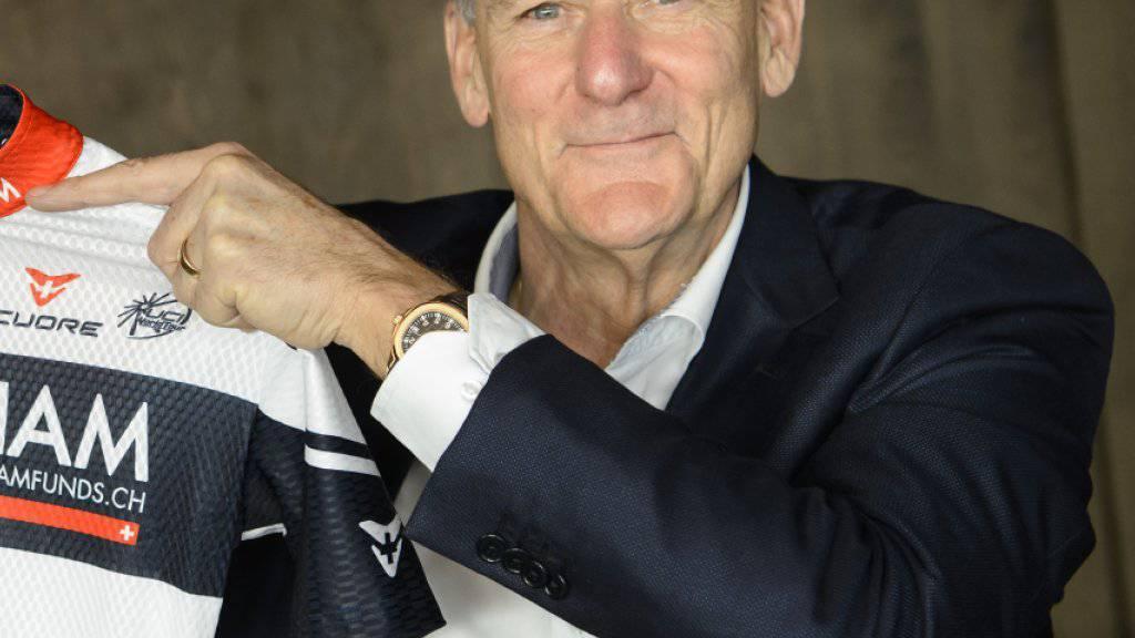 Michel Thétaz, der Besitzer der Westschweizer Radsport-Equipe IAM, durfte sich über einen weiteren Etappensieg seines Teams an einer der drei grossen Rundfahrten freuen