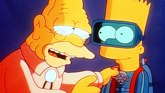"""Simpson und sein Enkel in """"Die Schatzsuche"""""""
